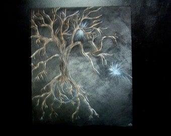Original acrylic, tree of life, acrylic on 20 x 24 canvas