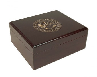 Personalized Military Humidor - ARMY
