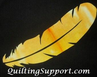 Easy Large Feather Quilt Applique Pattern Design