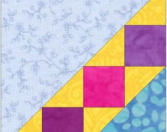 Ladder 4 Paper Piece Templates Quilting Block Pattern PDF