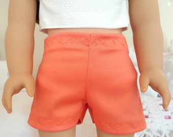 18 inch doll coral shorts