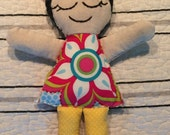 Cloth baby doll, fabric doll, wild child, baby gift, girl, boy, free shipping