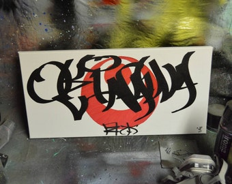 Okinawa ( Handstyle ) [ Canvas Painting ]