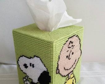 Peanuts Tissue Box Cover