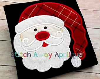 Santa Face Christmas Machine Applique Design