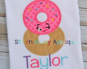 Happy Shopper Donut 8 Birthday Number Machine Applique Design