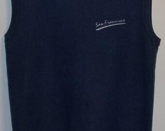 Vintage 1980's Sleeveless San Francisco Sweatshirt / San Francisco Sweatshirt Vest