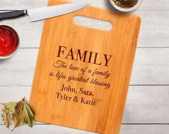 Personalized Cutting Board - Personalized Gift - Family Engraved Cutting Board - Custom Cutting Board
