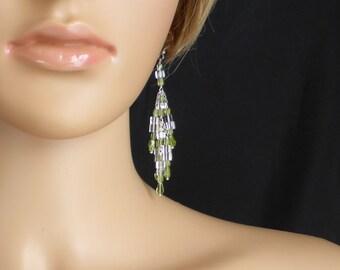 The wonderful green of peridot with crystal quartz