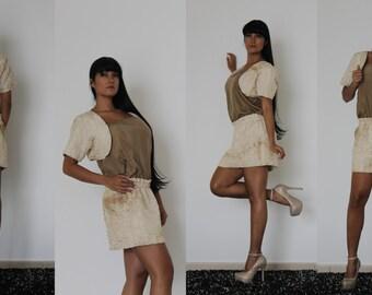 Two-piece dress.