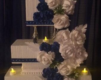 Paper Flower Wedding Display Cake
