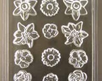 Floral Pieces Chocolate mold