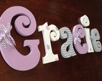 Nursery decor, Hanging nursery letters, nursery letters, baby girl nursery letters, nursery decor, nursery wall letters