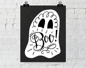 Ghost Print, Halloween Printable, Ghost Poster, Halloween Print, Halloween Poster, Halloween Decor, Halloween Home, Halloween Art Printable