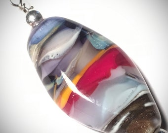 Breaking dawn OOAK glass focal bead pendant