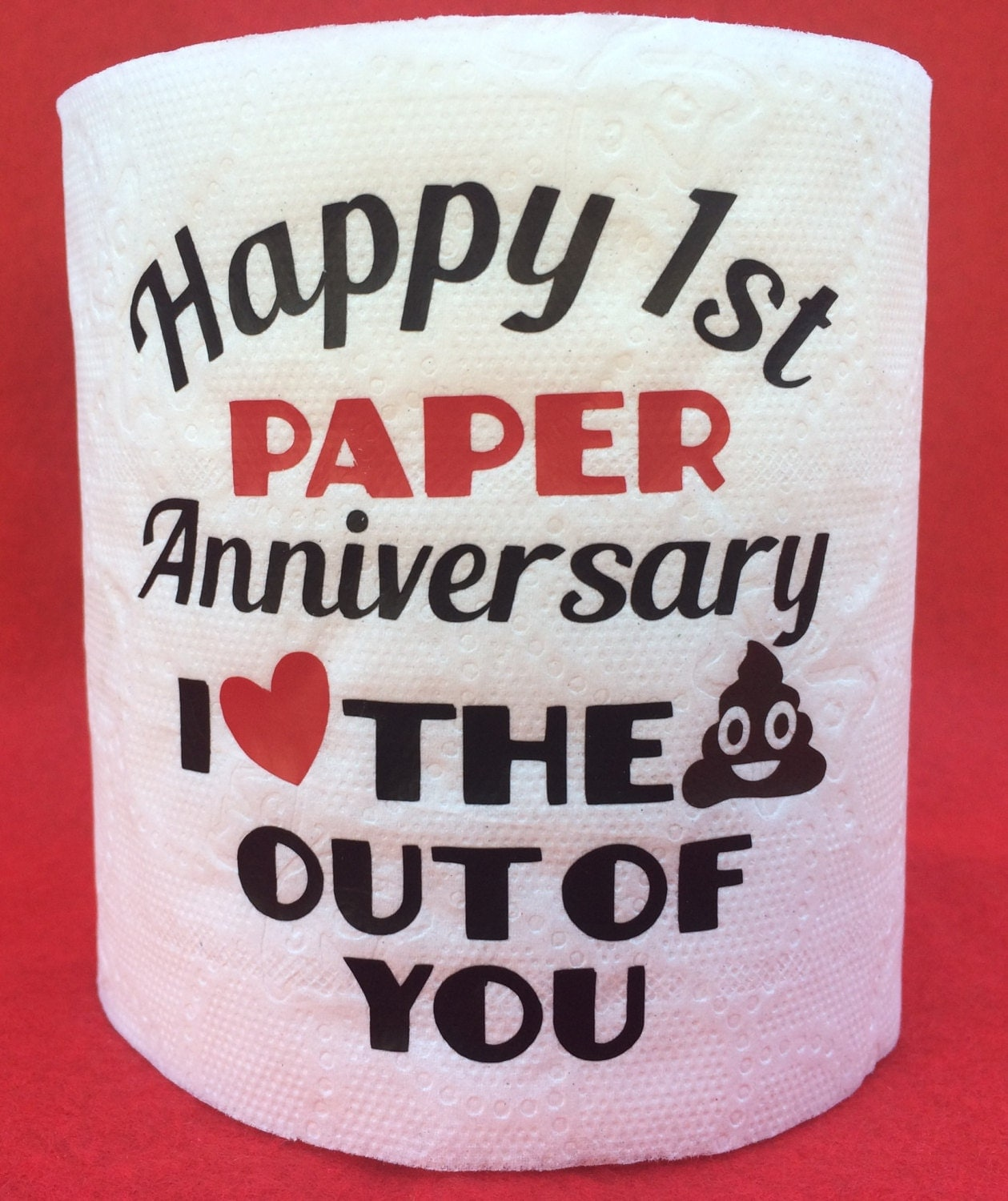 Best Gift For 1st Wedding Anniversary: Hilarious First 1st Paper Wedding Anniversary Toilet Paper Gag