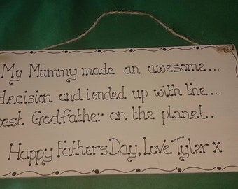 Father's Day hanging decor - gift for Dad - gift for godfather