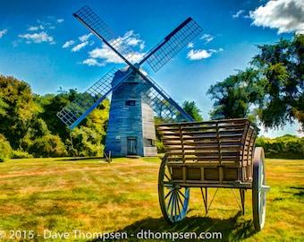 Prescott Farm Windmill - Fine art photograph - Stamp Treks series