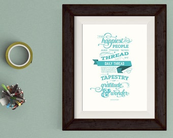 Happiness Typography Poster with FREE US Shipping!
