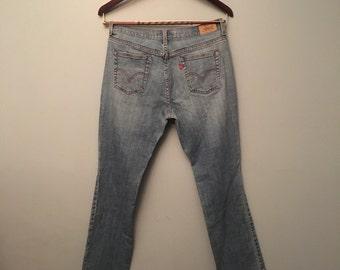 "Levi Strauss Jeans Denim Blue Jeans 515 Red Tag Boot Cut 34"" Waist"