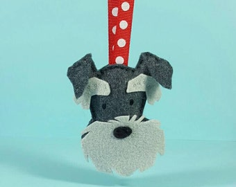 Schnauzer, Minature Schnauzer Ornament, Schnauzer ornament, minature scnauzer, schnauzer art, dog ornament, pet lover gift, gift for her