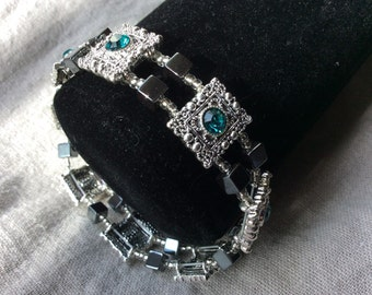 Swarovski Crystal and Hematite Bracelet