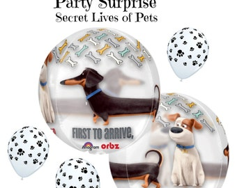 Secret Lives of Pets Balloon Package Kids Birthday Party Dogs Cats Pets Animal Party Balloons