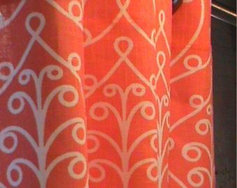 Orange Curtains SALE >>>Custom made Drapes