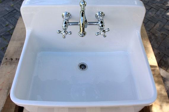 Vintage Style High Back Farm Sink Apron Kitchen Utility