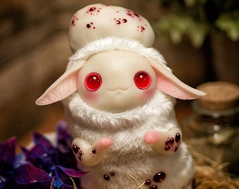 MADE TO ORDER Albino creature - art toy plush