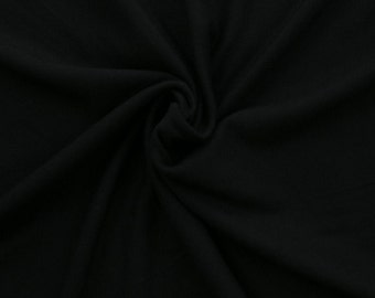 Jet Black Rayon Spandex Knit by Made Whimsy