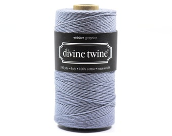 240 Yards of Bakers Twine-Solid Gray-100% Cotton-Gift Wrapping-Wedding Favors-Product Packaging