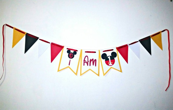 Mickey Mouse I am 1 banner