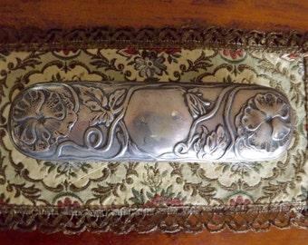 Vintage Art Nouveau Sterling Silver Clothes Brush_Sterling Handle Brush_Silver Victorian Brush