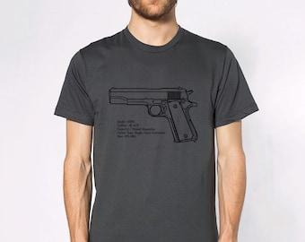 KillerBeeMoto: M1911 Pistol Short & Long Sleeve Shirts