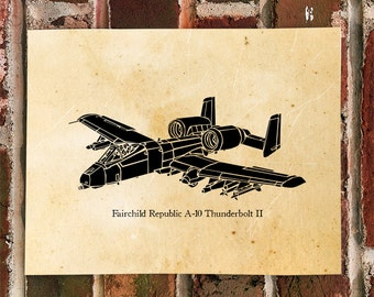 KillerBeeMoto: Limited Print Fairchild Republic A-10 Thunderbolt II Warthog Aircraft Print 1 of 50