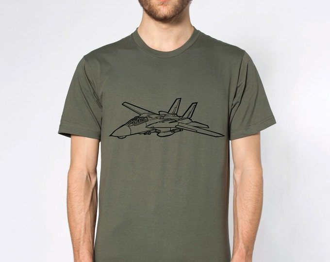 KillerBeeMoto: Grumman F-14 Tomcat Short & Long Sleeve T-Shirt Cartoon Version