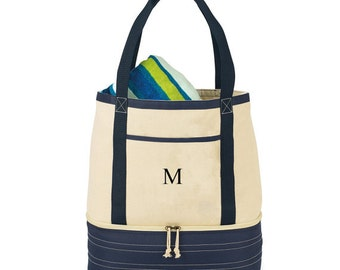 Monogrammed Tote, Insulated Tote, Canvas Tote