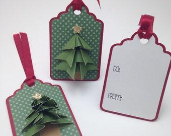 Origami Tree Fold Gift Tag