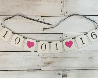 Wedding Date Banner • Save the Date