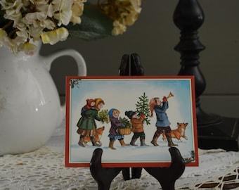 This a very cute Tasha Tudor Christmas card