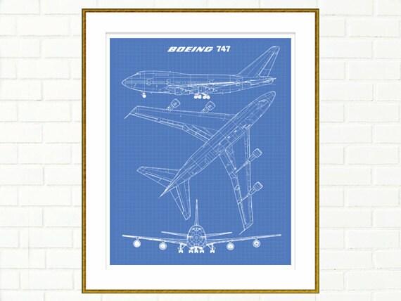 747 blueprint jumbo jet blueprint art instant download 747 blueprint jumbo jet blueprint art instant download boeing 747 wall art printable art airplane wall decor 8x10 11x14 malvernweather Choice Image