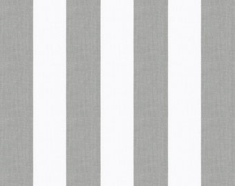 White and Gray Stripe Organic Fabric - By The Yard - Boy / Girl / Gender Neutral