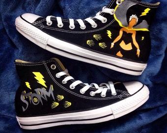 X-men Storm Hand-Painted Converse Shoes