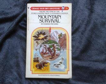 Vintage Choose Your Own Adventure Book #28 Mountain Survival