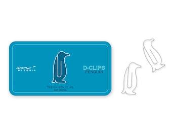 Midori Penguin D-Clips Animal Paper Clips