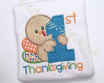 First thanksgiving Onesie| first thanksgiving shirt| boy's Turkey shirt // girls thanksgiving shirt // turkey shirt