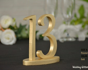 Wedding Table Numbers, SET 1/30, Elegant Wedding Table Numbers, Gold Table Numbers, Silver Table Numbers