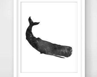 30% OFF SALE Whale Print, Whale Wall Prints, Whale Art, Printable Whale Art, Downloadable Whale Print, Grey Whale, Cute Whale