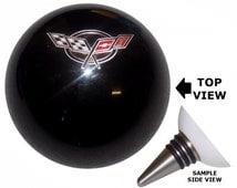 Black Corvette C5 Flags Emblem Stainless Steel Wine Bottle Stopper